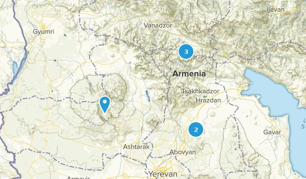 Kotayk, Armenia Skiing Map