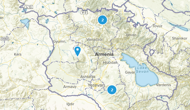 Kotayk, Armenia Waterfall Map