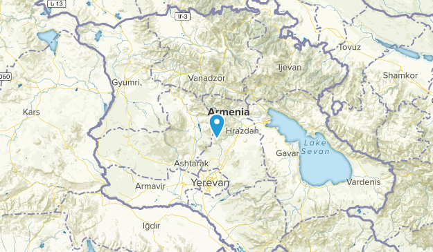 Kotayk', Armenia National Parks Map