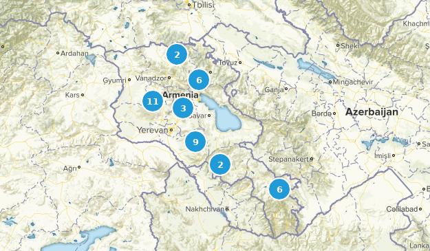 Kotayk', Armenia Nature Trips Map