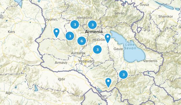 Kotayk', Armenia Skiing Map