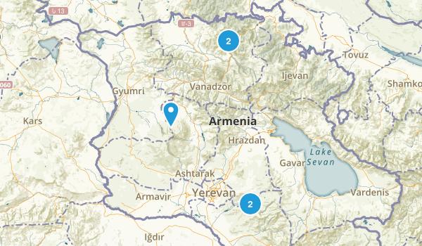 Kotayk', Armenia Waterfall Map