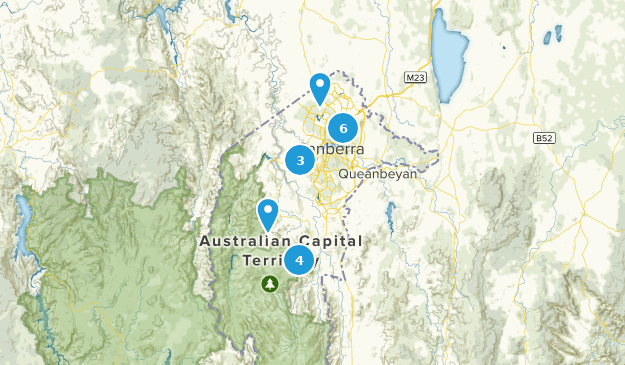 Australian Capital Territory, Australia Hiking Map