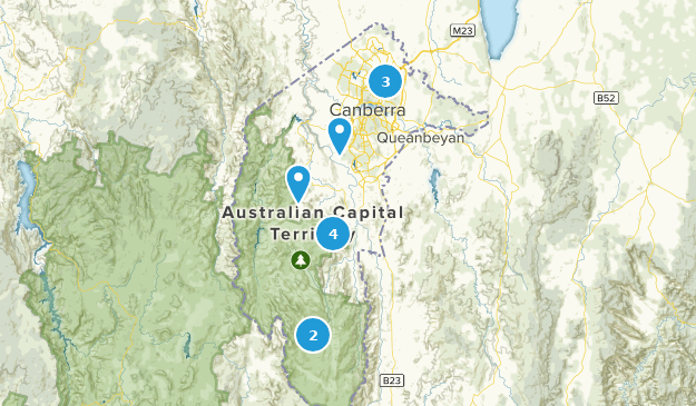 Australian Capital Territory, Australia Nature Trips Map