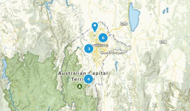Australian Capital Territory, Australia Parks Map