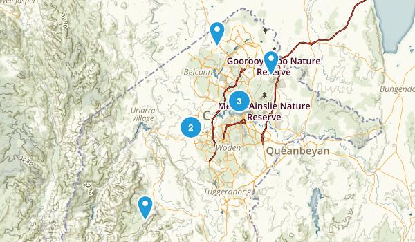 Australian Capital Territory, Australia Trail Running Map