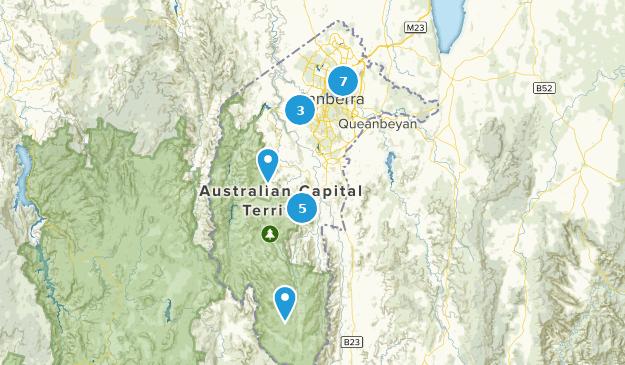 Australian Capital Territory, Australia Walking Map