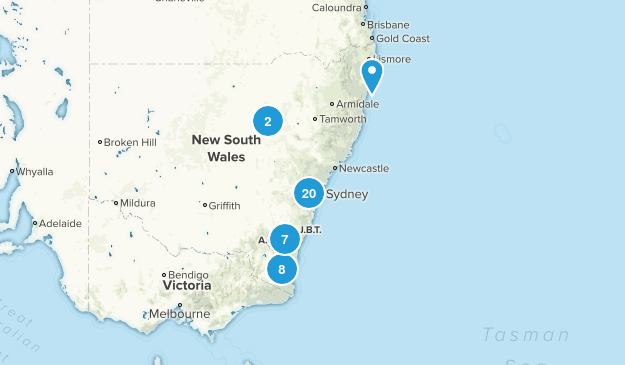 New South Wales, Australia Backpacking Map