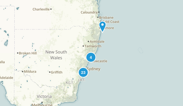 New South Wales, Australia Beach Map