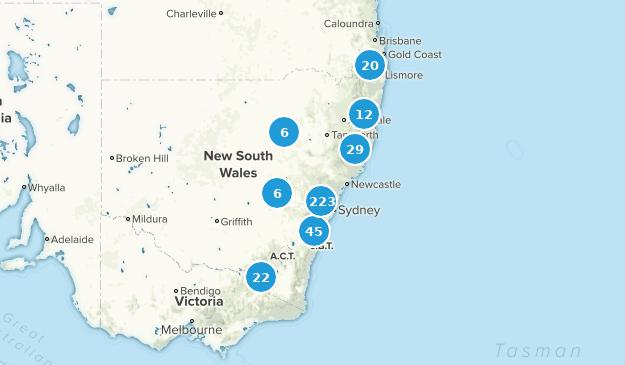 New South Wales, Australia Hiking Map