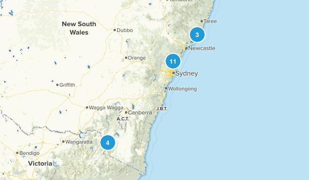 New South Wales, Australia Lake Map