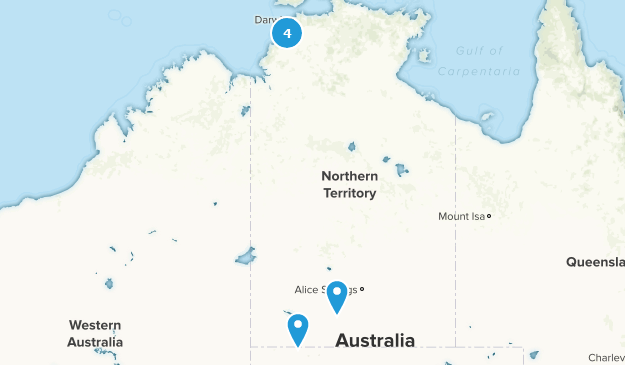 Northern Territory, Australia Forest Map