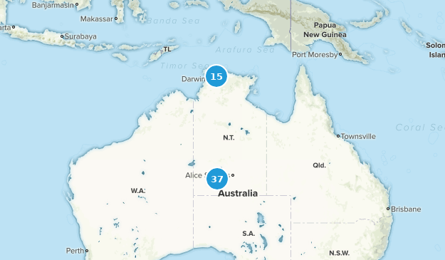 Northern Territory, Australia Hiking Map