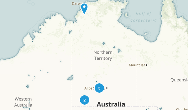 Northern Territory, Australia Kid Friendly Map