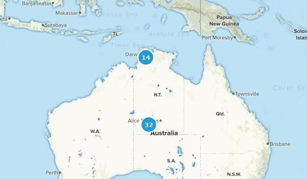 Northern Territory, Australia Nature Trips Map