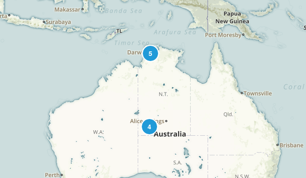 Northern Territory, Australia Parks Map