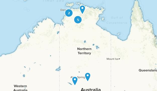 Northern Territory, Australia River Map