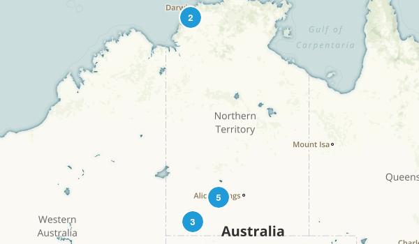 Northern Territory, Australia Views Map