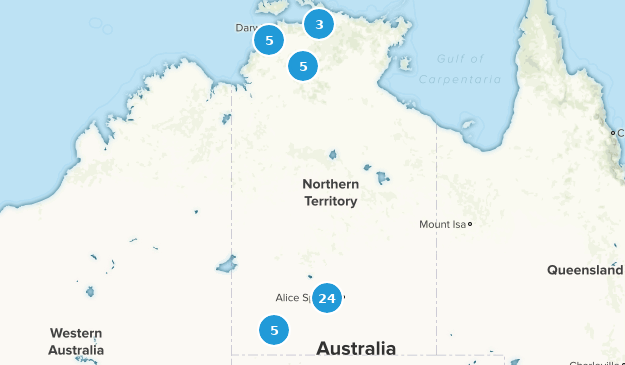 Northern Territory, Australia Views Map