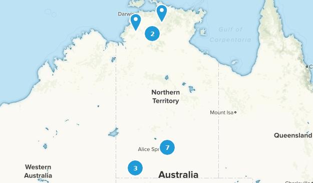 Northern Territory, Australia Wild Flowers Map