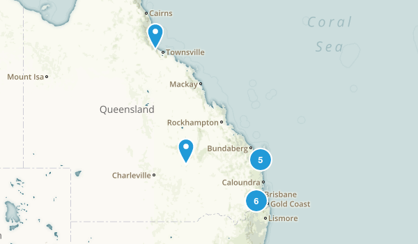 Queensland, Australia Backpacking Map
