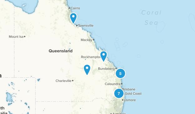 Queensland, Australia Backpacking Map