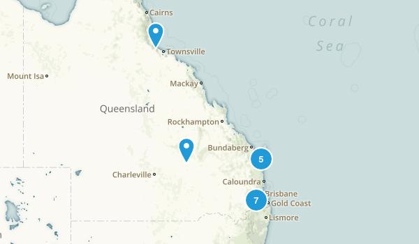 Queensland, Australia Camping Map