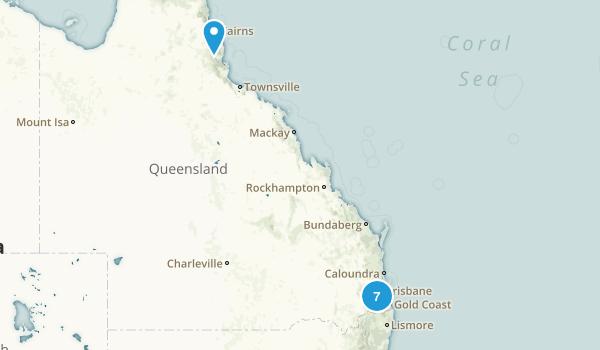 Queensland, Australia No Dogs Map