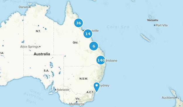Queensland, Australia Hiking Map