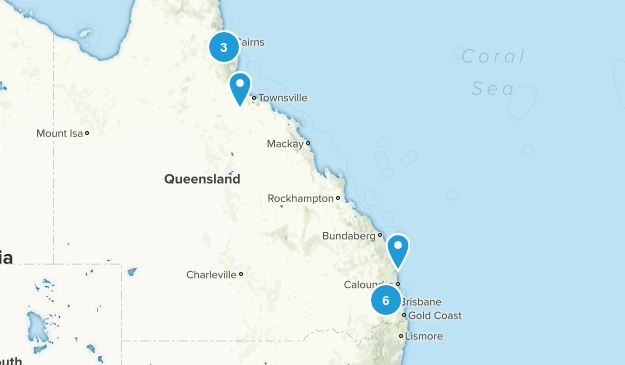 Queensland, Australia Lake Map