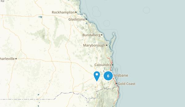 Queensland, Australia Mountain Biking Map