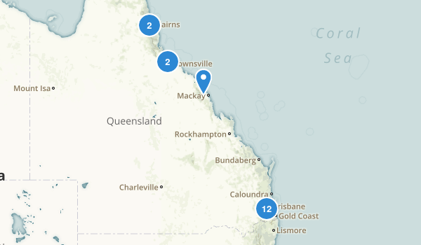 Queensland, Australia Trail Running Map