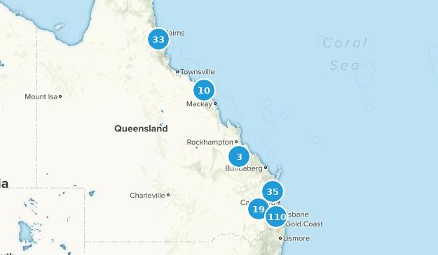 Queensland, Australia Walking Map