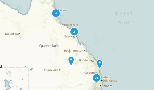 Queensland, Australia Wildlife Map
