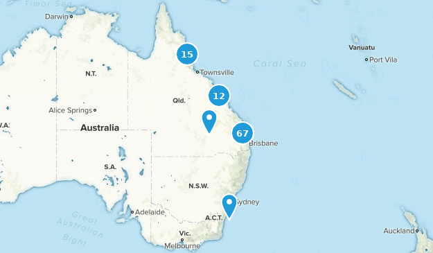 Queensland, Australia Wildlife Map