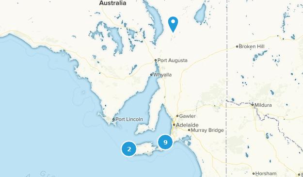South Australia, Australia Beach Map