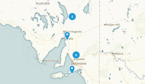 South Australia, Australia Camping Map
