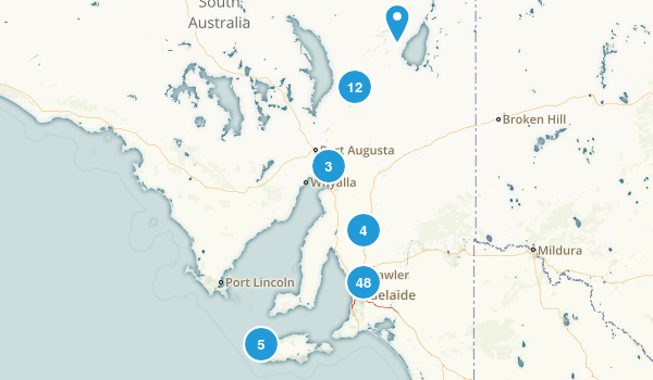 South Australia, Australia Hiking Map