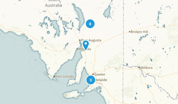 South Australia, Australia National Parks Map