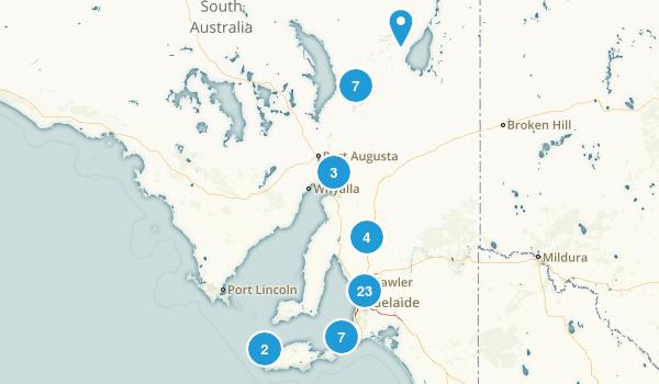 South Australia, Australia Nature Trips Map