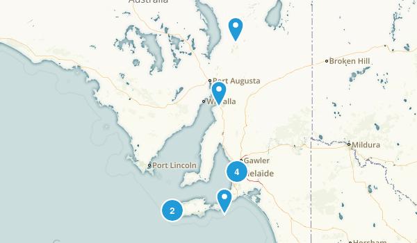 South Australia, Australia River Map