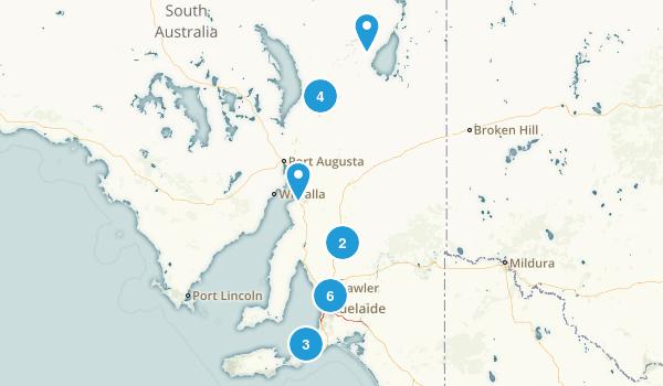 South Australia, Australia Wild Flowers Map