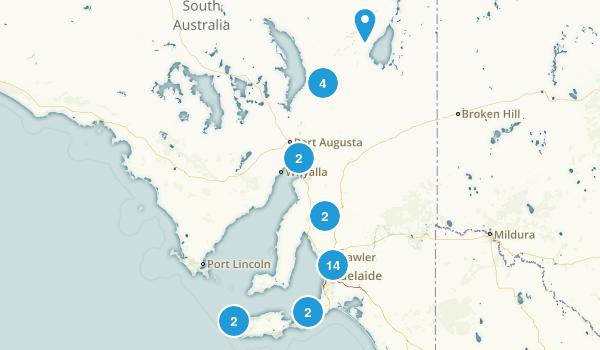 South Australia, Australia Wildlife Map