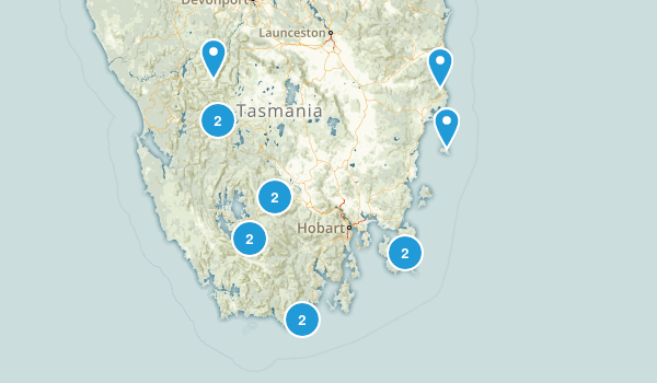 Tasmania, Australia Backpacking Map