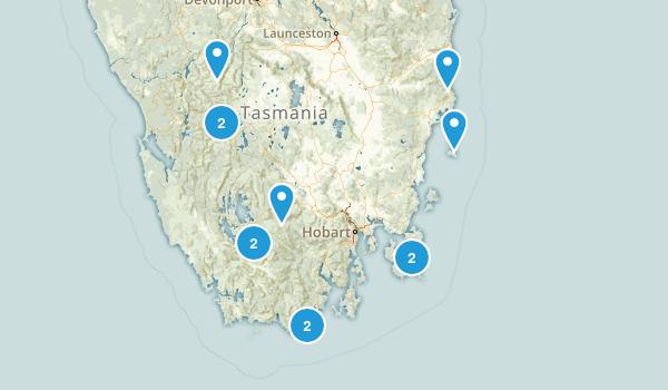 Tasmania, Australia Camping Map