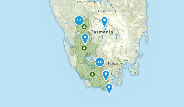 Tasmania, Australia Lake Map