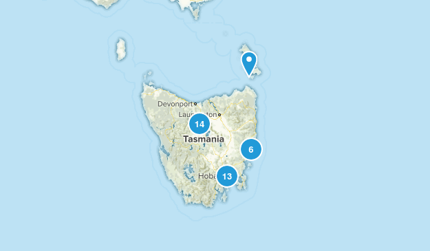 Tasmania, Australia Parks Map