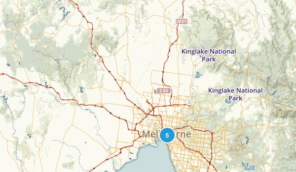 Victoria, Australia City Walk Map