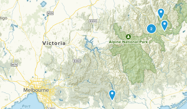 Victoria, Australia Cross Country Skiing Map