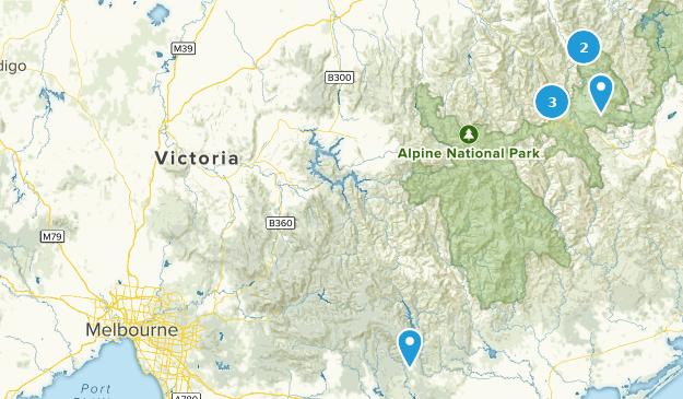 Victoria, Australia Cross Country Skiing Map
